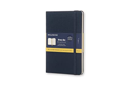 Moleskine Two Go Hard Cover Notebook Mixed Ruled