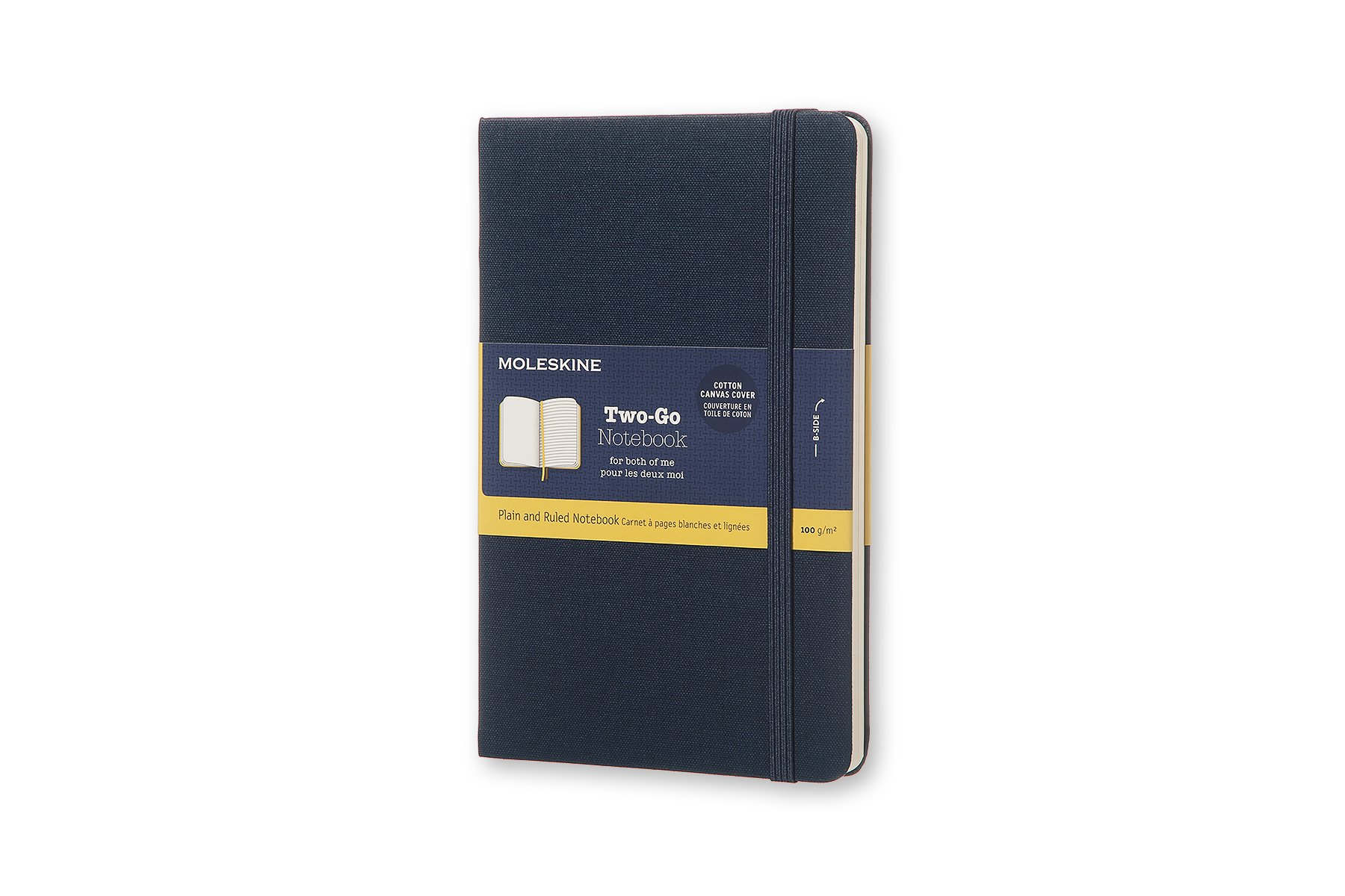 Moleskine Two-Go Hard Cover Notebook, Mixed (Ruled-Pl (QVXS)