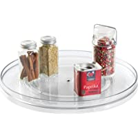 """InterDesign 54730 Linus Lazy Susan Turntable Spice Organizer Rack for Kitchen Pantry, Cabinet, Countertops - 14"""", Clear"""