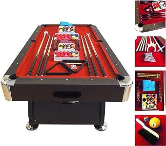 Mesa de billar modelo 7 FT RED DEVIL FULL OPTIONAL juegos de billar pool Medición de 188 X 96 cm FULL carambola Nuevo embalado disponible: Amazon.es: Deportes y aire libre