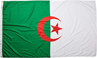 product image for Annin Flagmakers Model 190260 Algeria Flag Nylon SolarGuard NYL-Glo, 5x8 ft, 100% Made in USA to Official United Nations Design Specifications