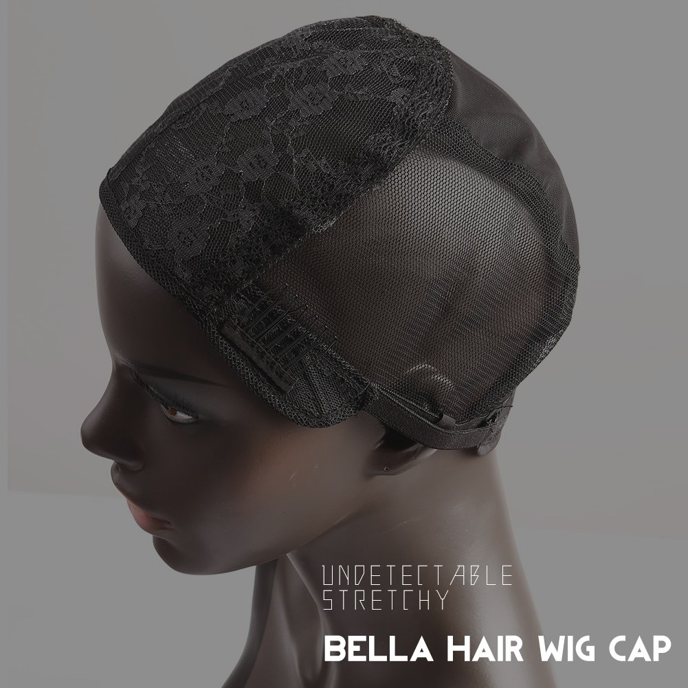 Bella Hair Glueless Wig Caps for Women Making Wig with Combs and Adjustable Straps Swiss Lace Black Medium Size by Bella Hair (Image #9)