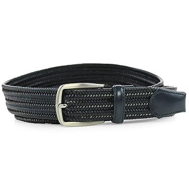 cdbd317f0 Safekeepers Leather Woven Belt – Braided Belt - Stretch Flexible Inside –  Stretchbelt - Flexible Belt