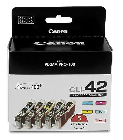 Amazon.com: canonink CLI-42 5-Pack Valor Para Impresora de ...