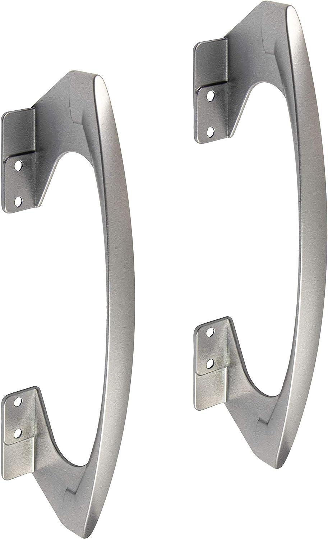 2 piezas - manijas de Muebles Puerta corrediza barra agarrar para faltschiebetüren - Modelo Silde faltschiebetügriff con distancia entre los orificios: 96/128mm schiebetür-griff METAL PLATA ANODIZADA