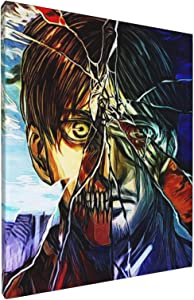 CNAOWHG Attack On Titan Anime Artwork Painting for Home Decoration Canvas Wall Art Decoration Living Room Bathroom Office Home Decor Ready to Hang Pictures Wall Art 8X10