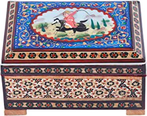 Wooden Hand Painted Box - Am-06-044 -28,multi Color