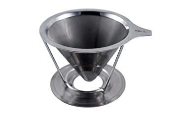 Cono de café Acero inoxidable pour over Coffee Maker, Micro ...