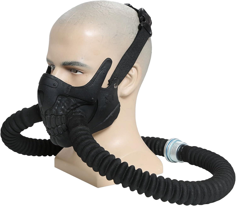 Immortan Joe Mascara Fury Road Cosplay Cool Resin Half Face Gas ...
