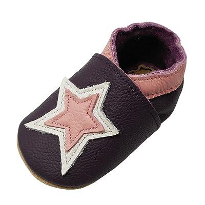 YIHAKIDS Chaussures Bébé - Chaussons Bébé Cuir Souple - Pantoufles Enfant Bébé et Bambin