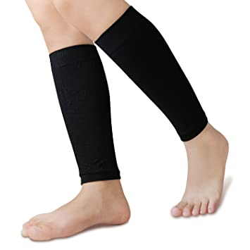 5b10a58648 Calf Compression Sleeve for Men & Women (1 Pair), BULESK Compression Leg  Sleeves