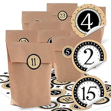 24 Small Brown Paper Bags Natural Kraft Paper 14 X 22 X 6 Cm 1 24