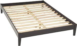 Modus Furniture Nevis Simple Platform Bed, Espresso, California King
