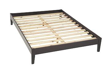 modus furniture sp23f6 nevis simple platform bed california king espresso - Platform Bed Frame California King