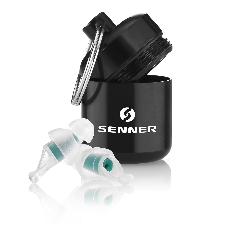 auto leggeri e facili da portare con s/é Ideali per viaggi in aereo isolano dai rumori ambientali Senner TravelPro tappi per le orecchie a protezione dell/'udito con contenitore in alluminio