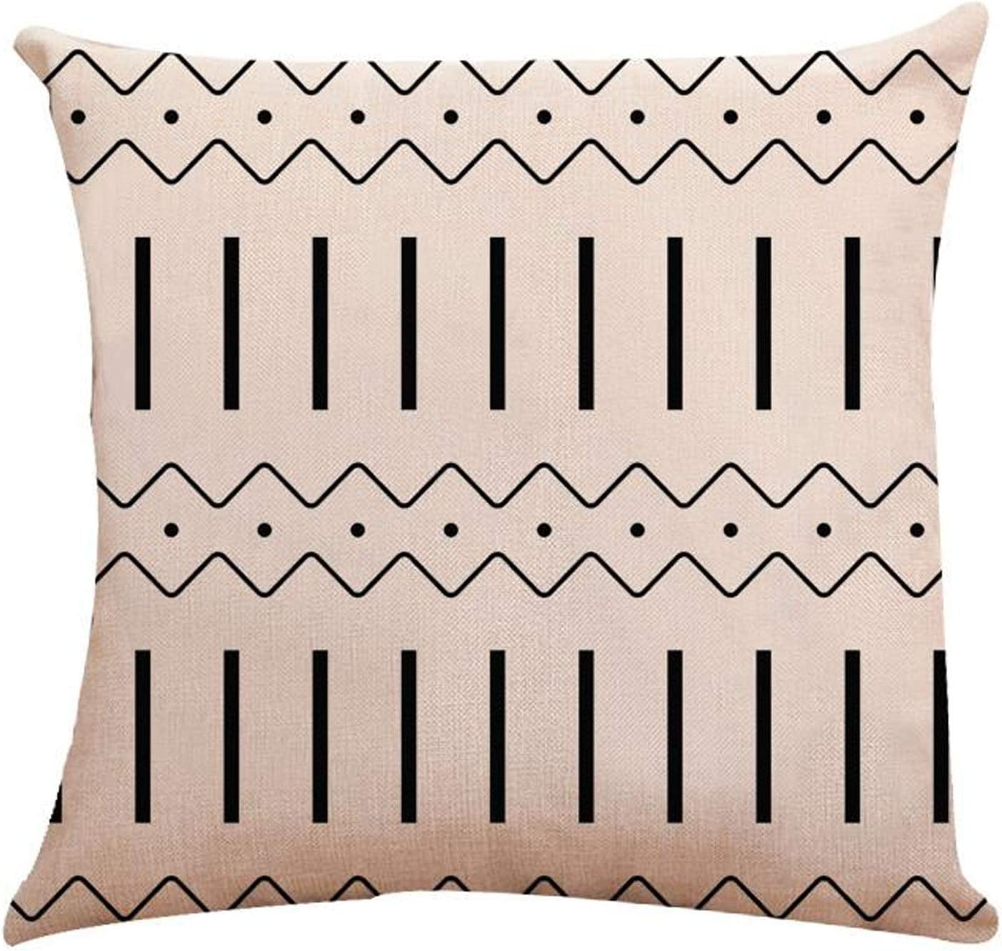 Pillow Covers 18x18 Sofa Throw Pillow Covers Decorative Outdoor Linen Pillow Covers Set of 4 for Couch Sofa Bed and Car 18x18 Inch 45x45 cm Black, 18x18,Set of 4