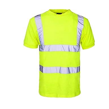 dffe0ebbbcfa INDX-Clothing Hi Vis Viz t Shirts High Visibility Crew Neck V Neck ...