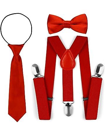 rosso colore pre-legata e regolabile Soul-Cats/® cravatta a strisce per bambini lunga 40 cm