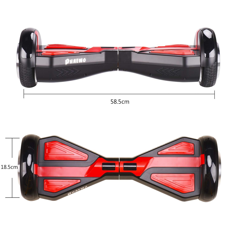 Hoverboard (Estilo de Transformers) - Patinete Eléctrico Scooter con Certificación UL, Auto-Equilibrio Patín de Dos Ruedas para ...