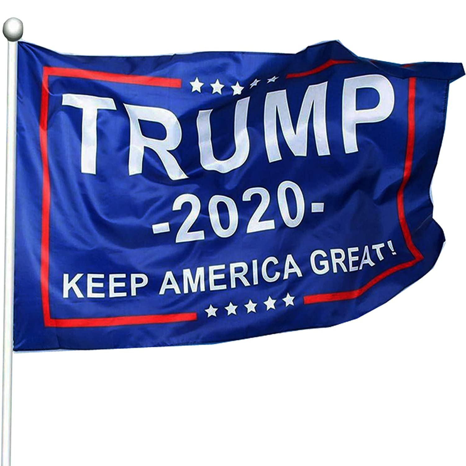 WIBIMEN Keep America Great Flag - President Donald Trump 2020 Flag - Vivid Color and UV Fade Resistant 3x5 Feet with Grommets Double Stitched
