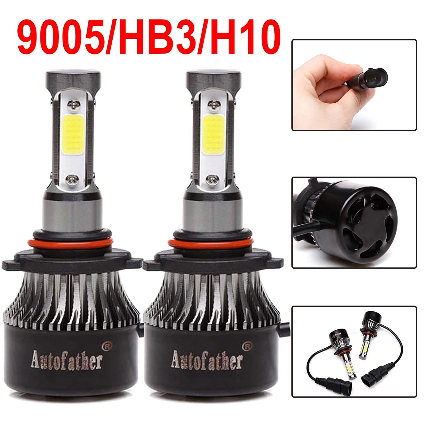 Amazon.com: 9005 H11 LED Headlight High Beam/Low Beam Combo Set For Chevy Silverado 1500/2500 HD / 3500 HD (2008-2015), 4 Sides COB Chips 12000LM High Power ...