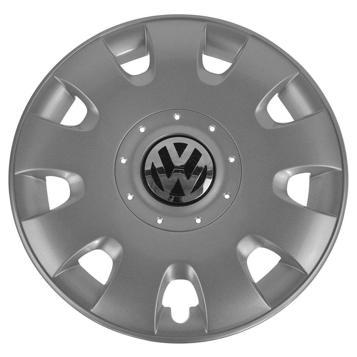 Genuine Diamond silverhigh chrome wheel trim rings VW 1T0601147RGZ by Volkswagen