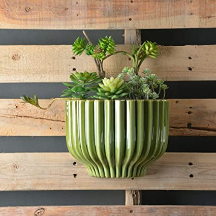 Bambus Wandvase für Pflanzen Halter Wall Mount Container Indoor oder
