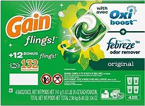 Gain flings! +AromaBoost Laundry Detergent Pacs, Original