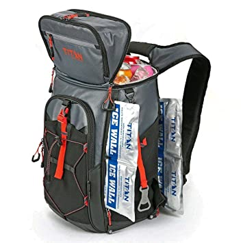 California Innovations Titan Backpack Cooler 24 Can Cool Bag 2x Ice Packs Hiking Biking Travel Picnic