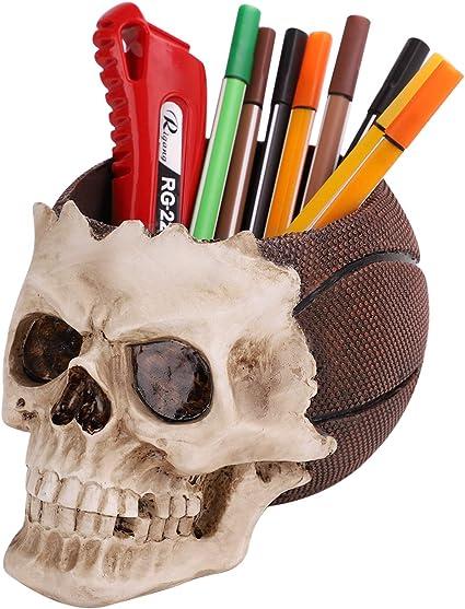 Totenkopf Stiftehalter Skull Halloween Deko