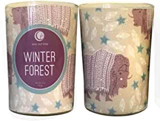product image for Way Out Wax Holiday Candle Winter Forest Glass Tumbler Net Wt. 7 Ounces