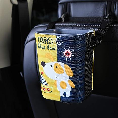 Amazon.com: Cubo de basura para coche, con estuche de ...