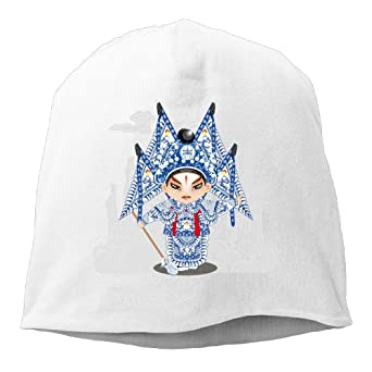 Reteone Fashion Solid Color Chinese Peking Opera Style Hedging Cap for Unisex Black One Size