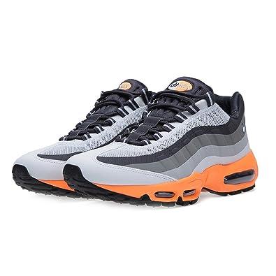 uk availability 3d9f7 729f8 Nike Mens Air Max 95 No Sew Light Grey Orange Running Trainers Size 8 UK