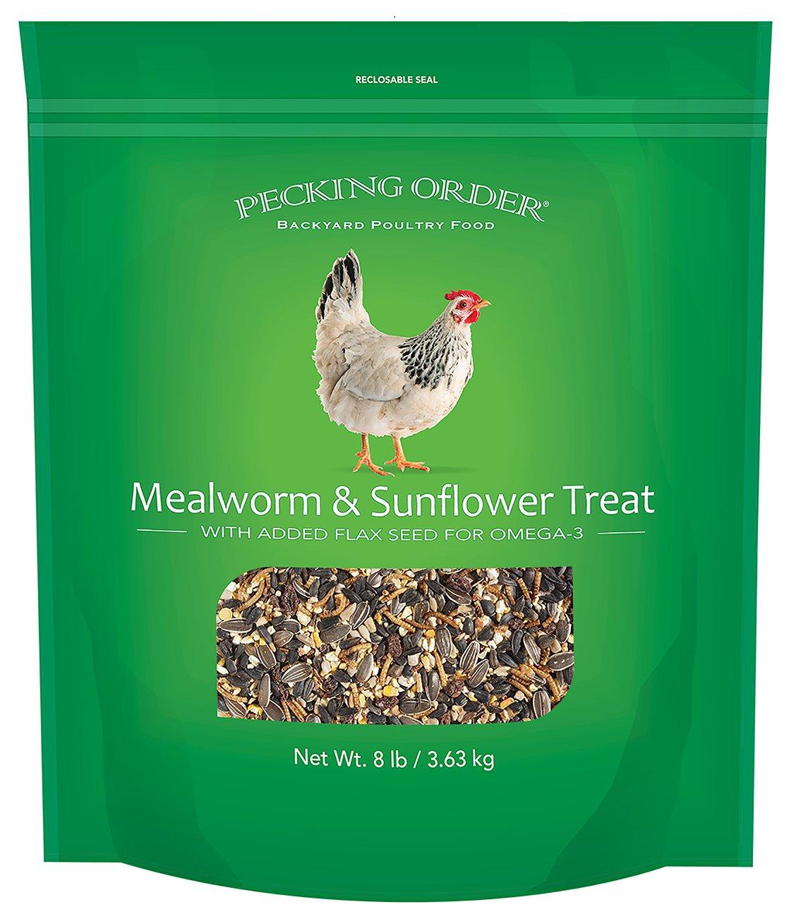 Pecking Order Mealworm & Sunflower Treat, 8 lb