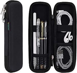 iDream365(TM) Apple Pencil Case Holder,Slim EVA Carrying Case/Bag/Pouch/Holder for Apple Pencils,Executive Fountain Pen,Ballpoint Pen,Stylus Touch Pen-Black
