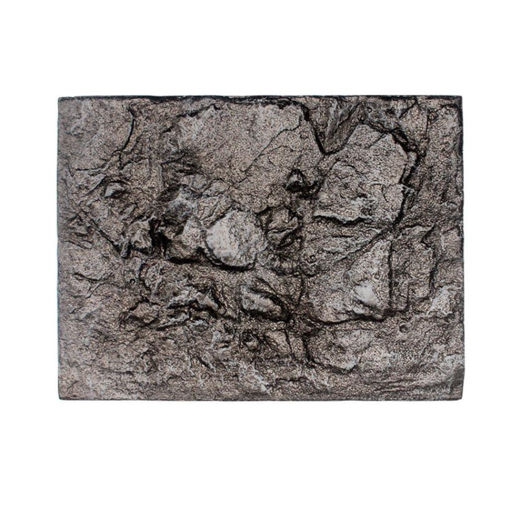 Hunpta - Fondo de espuma 3D para acuario, diseño de roca y reptil, decoración para pecera, tamaño de la tabla de decoración: Amazon.es: Productos para ...