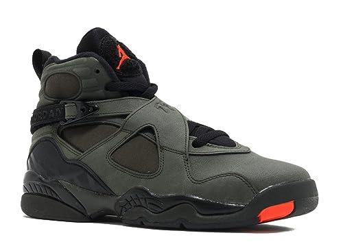 05a7442f6f6538 Nike Men s Air Jordan 8 Retro Black Running Shoes - 4 US  Buy Online ...