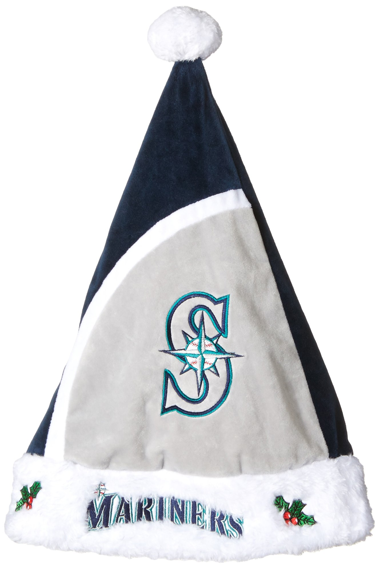 Forever Collectibles MLB Seattle Mariners Santa Hat, One Size, Green