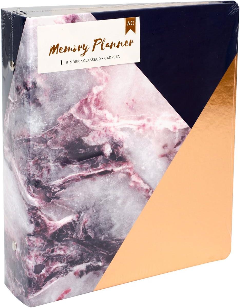American Crafts Marble Crush Memory Planner Binder Gold Corner