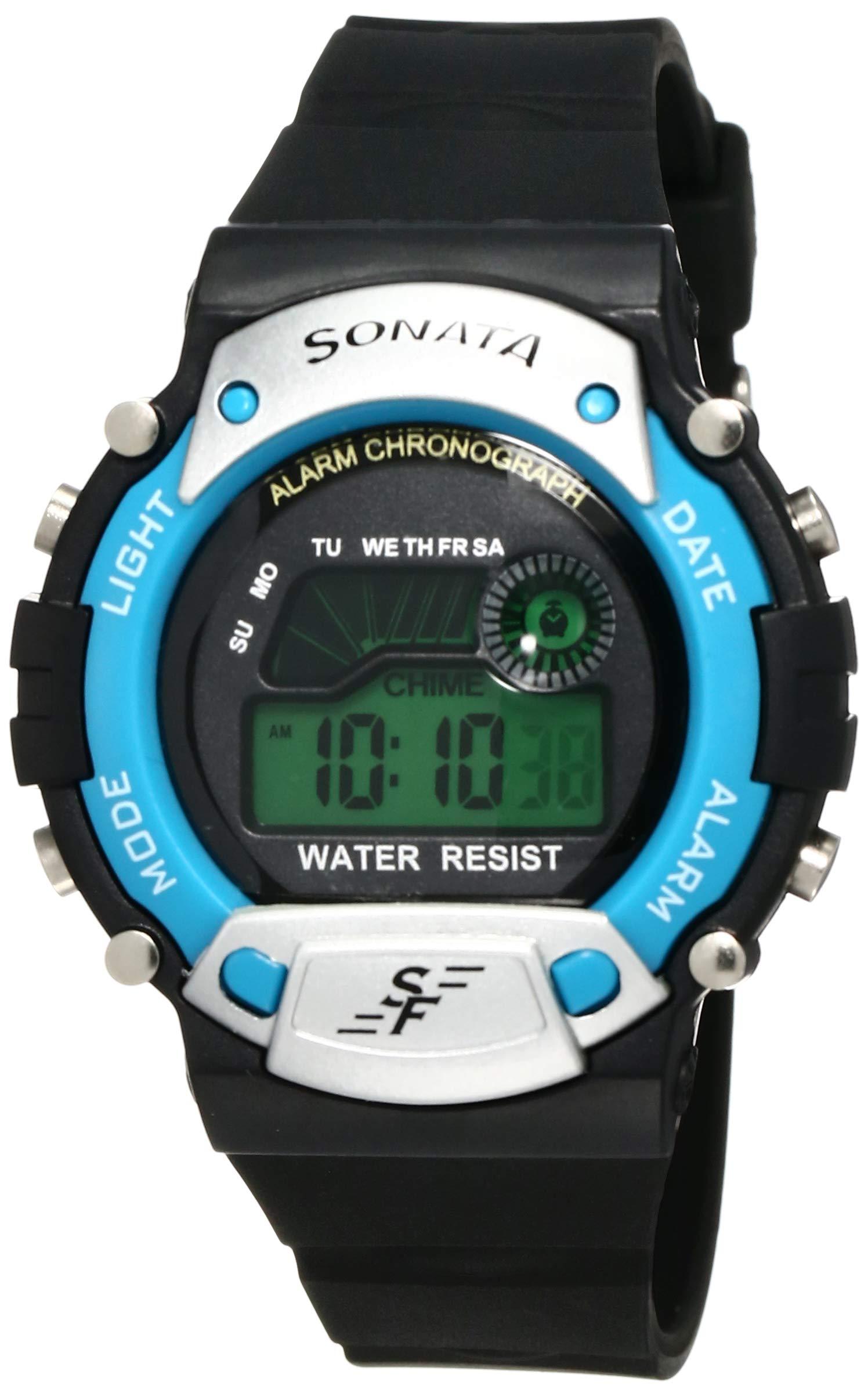 Sonata Digital Grey Dial Men's Watch -NK7982PP04 product image