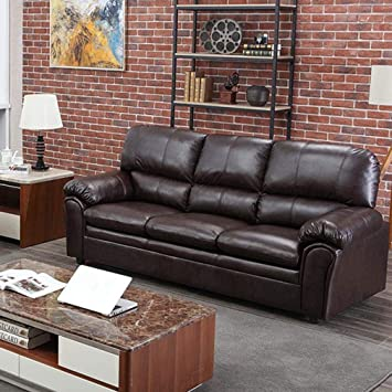 Amazon.com: Sofa Leather Couch Sofa Contemporary Sofa Couch Sectional Sofa For Living Room Furniture 3 Seat Modern Futon: Furniture & Decor