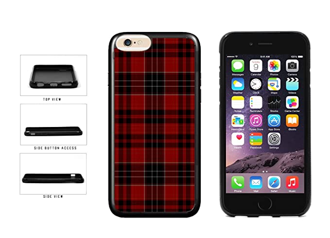 e2aa570c9d Amazon.com: Red Buffalo Plaid Pattern TPU RUBBER Phone Case Back ...