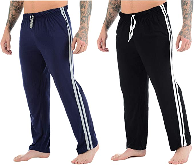 Stylo Online - Pantalón de Pijama - para Hombre Negro 1 X Black & 1 X Navy / 2 Pack M: Amazon.es: Ropa y accesorios