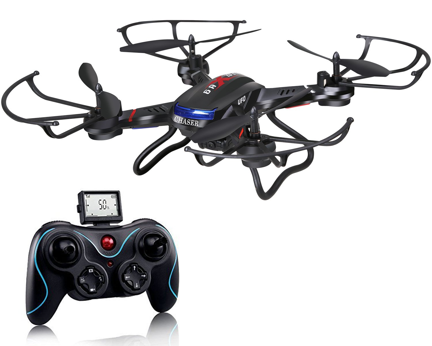 Holy Stone F181C RC Quadcopter Drone with HD Camera RTF 4 Channel 2.4GHz 6-Gyro with Altitude Hold Function,Headless Mode and One Key Return Home, Color Black by Holy Stone