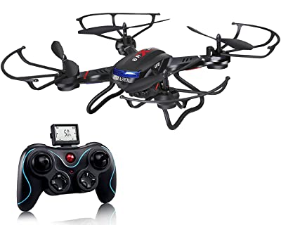 Holy Stone F181 RC Quadcopter Drone with HD Camera RTF 4 Channel 2.4GHz 6-Gyro Headless System Black