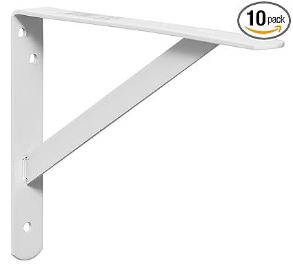 Decko 49143 Heavy Duty Shelf Bracket 105 Inch By 75 Inch White