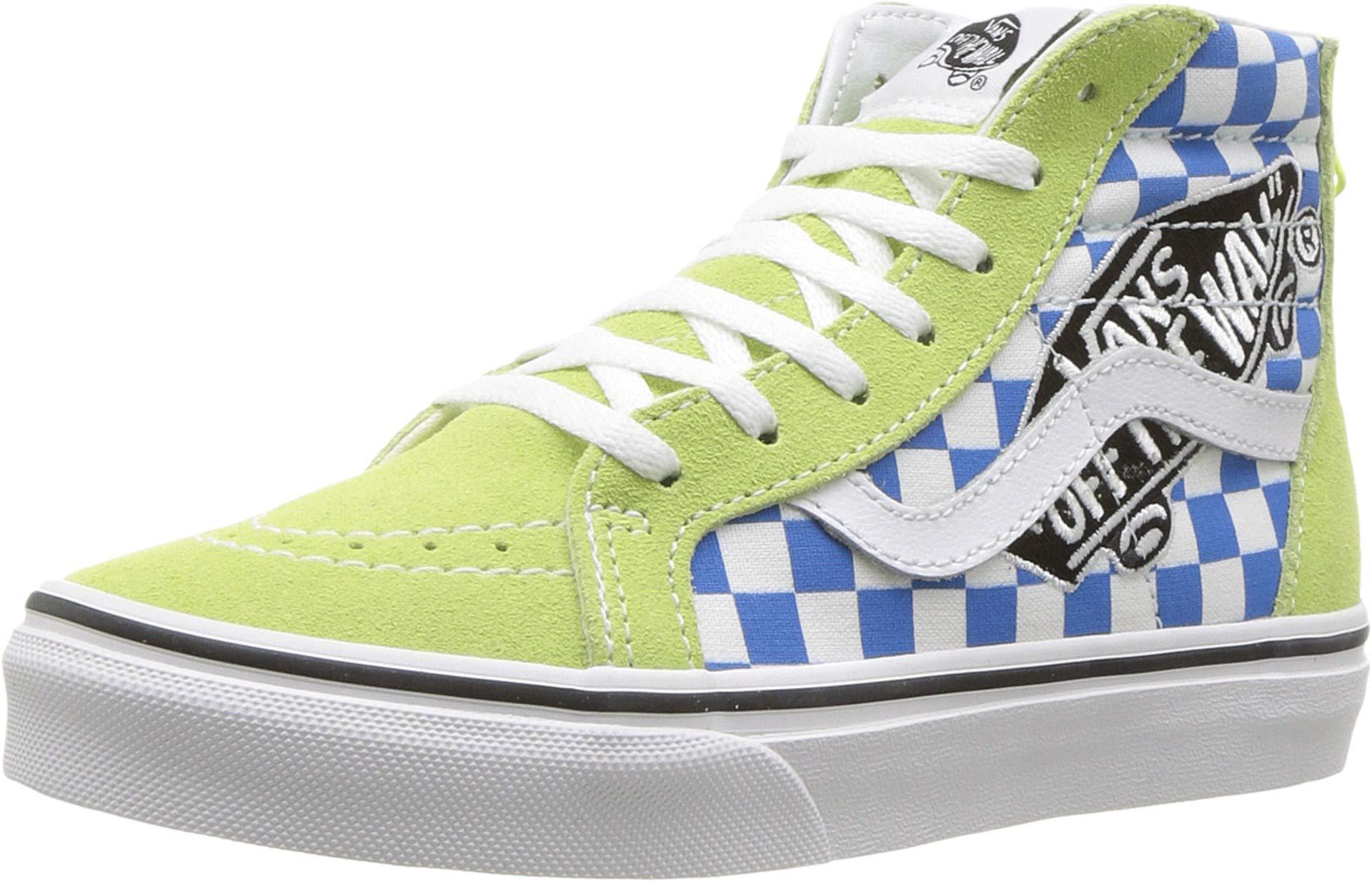 ef5635f36aefa3 Galleon - VANS K SK8-HI Zip(UJY) (VANS Patch) Sharp Green True White (12  Little Kid M)