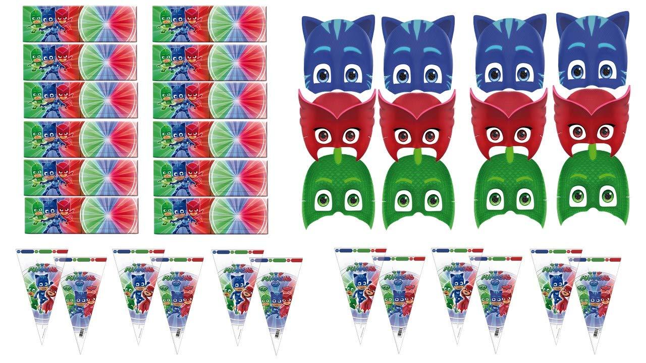 PJ Masks 0481, Pack Invitados Fiestas y Cumpleaños, 12 ...