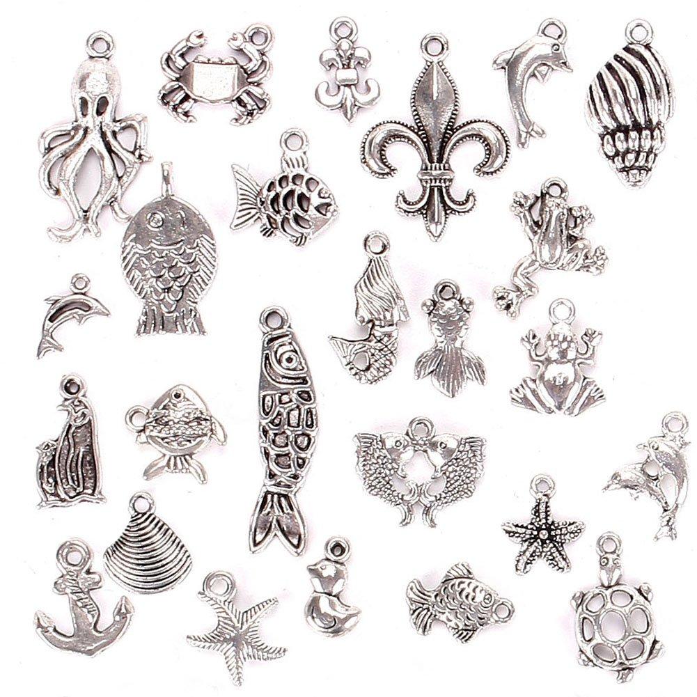 per ciondoli fai da te Juanya creazione di gioielli 01# 100/charm misti